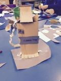 Year 3 were introduced to different ways to bend, score and fold paper to create transition from 2-D to 3-D work.
