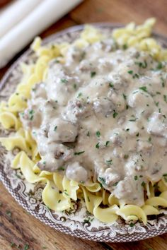 The best Ground Beef Stroganoff. Budget friendly and family friendly! I make this several times a month because we love it so much!