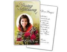 Prayer Cards: Bouquet Large Prayer Card Template