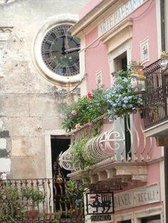 a balcony...