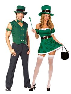 Couples Costume -the luck of the Irish is all year long!  sc 1 st  Pinterest : irish costumes  - Germanpascual.Com