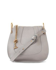 Hayley+Small+Hobo+Bag,+Gray+by+Chloe+at+Neiman+Marcus.