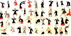 chi-kung 8 piezas Las 8 piezas de seda, forman parte del antecedente mas antiguo encontrado en la Tumba No. 3 del General Ma Wang Diu, de la Dinastia Han, en Changsha - China, descubierta en 1974. Estos textos escritos en rollos de seda datan del año 168 A.C.