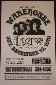 The Doors : New Orleans, Jim Morrison last show-check out the price!