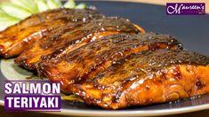SALMON TERIYAKI - EASY RECIPE - YouTube Salmon Recipes, Fish Recipes, Seafood Recipes, New Recipes, Dinner Recipes, Cooking Recipes, Teriyaki Salmon, Baked Chicken Legs, Asian Beef