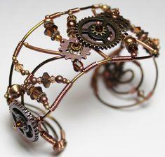Steampunk bracelet by Lisa Suver