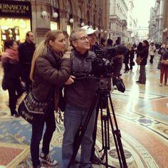 Al lavoro sul mio documentario con #OrenJacoby e #BobRichman