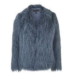 Mongolian Faux Fur Coat by Kendall + Kylie at Topshop (34 SEK) ❤ liked on Polyvore featuring outerwear, coats, jackets, fur, coats & jackets, blue, blue faux fur coat, blue coat, fake fur coats and imitation fur coats