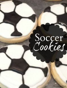 Easy to make, diy soccer cookies. These adorable sugar cookies are perfect for celebrating soccer season and make a yummy post-game dessert.