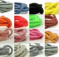 smooth three core italian fabric lighting cable by dowsing & reynolds   notonthehighstreet.com