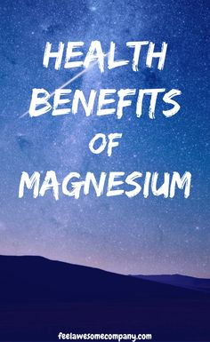 Magnesium is a wonderful mineral that helps us stay young, healthy and strong. A magnesium deficiency in your body can make you age faster! Magnesium Foods, Magnesium Deficiency Symptoms, Magnesium Benefits, Health Benefits, Bone Health, Women's Health, Mental Health, Brain Nutrition, Stress And Depression