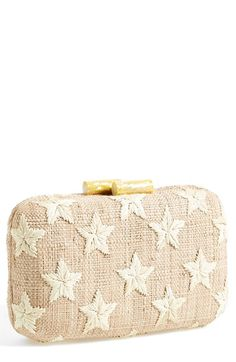 Kayu 'Star' Straw Clutch available at #Nordstrom