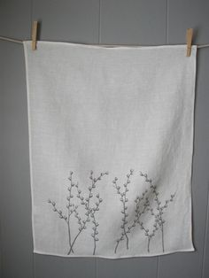 pussy willow hand towel (organic)