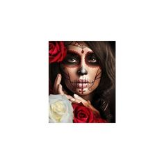 Day of the Dead Sugar Skull Costume ❤ liked on Polyvore featuring costumes, makeup, skull costume, skull halloween costumes, x ray costume, skeleton halloween costume and xray costume