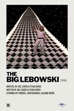 Iconic Movie Posters, Minimal Movie Posters, Minimal Poster, Iconic Movies, Film Posters, Big Lebowski Poster, The Big Lebowski Movie, Cinema Movies, Cult Movies