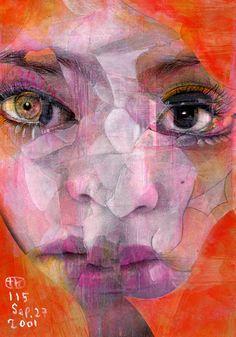 Collage painting by Takahiro Kimura