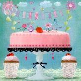 Postkarte Torte