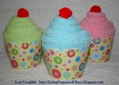 Cupcake sock.  I would add a Carmex lip gel tube & have top of rounded cap peeking out the center for a 'cherry'