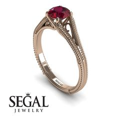 8d4cf779cad5 Ruby Engagement Ring by Segal Jewelry Anillos De Compromiso Marquesa