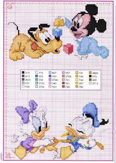 Disney punto croce