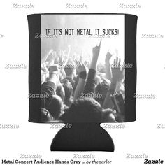 Shop Metal Concert Audience Hands Grey & Black Music Can Cooler created by theparlor. Customizable Gifts, Hand Warmers, Special Events, Stress, Hands, Concert, Grey, Metal, Music