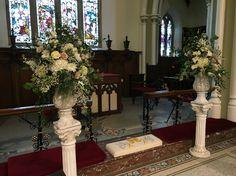 Posy Barn large urn arrangements in church