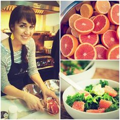 Happy National Grapefruit Month (FEB)! Our designer Maggie is making us some yummy salads! #GETTHEGLOW