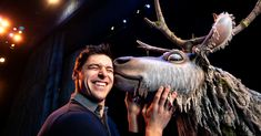 """How a onetime acrobat and a """"Lion King"""" puppet designer brought a speechless reindeer to life in Disney's stage adaptation of """"Frozen"""" on Broadway. Frozen On Broadway, Sven Frozen, Frozen Costume, Secret Life, Costumes, Costume Ideas, Ny Times, Puppets, Reindeer"""