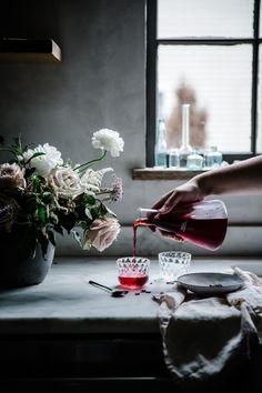 Local Milk   herbalism for pregnancy + moon mother elixir: ginger kombucha + rose + hibiscus herbal infusion