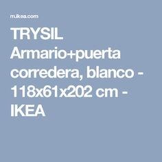 TRYSIL Armario+puerta corredera, blanco - 118x61x202 cm - IKEA