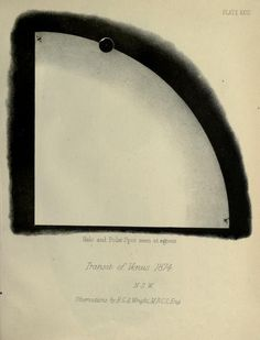 Plate XXIII. Halo and polar spot seen at egress. Transit of Venus, 1874. Observations of the transit of Venus, 9 December, 1874, made at stations in New South Wales. 1892.