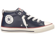 quality design 66f5a b890f Converse Kids Chuck Taylor All Star Street Leather and Fleece Mid (Little  Kid Big