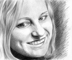 Magdalena Muraszko-Kowalska autoportret rysunek ołówek