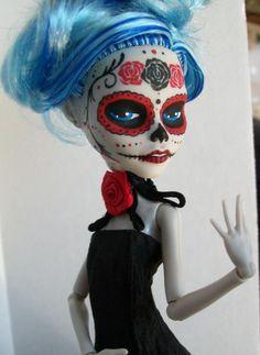 Monster High Custom Ghoulia Day of the dead by macabredarling.deviantart.com on @deviantART