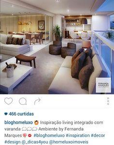 Living e varanda integrados