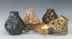 Ceramic Candle Keeper Handmade Ceramic Lamp Pottery by InsCeramics