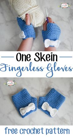 Crochet Patterns Gloves Make these cute fingerless gloves with just one skein of Vanna& Choice yarn. One Skein Crochet, Cute Crochet, Crochet Scarves, Crochet Crafts, Crochet Clothes, Crochet Fingerless Gloves Free Pattern, Crochet Boot Cuffs, Fingerless Mitts, Crochet Slippers