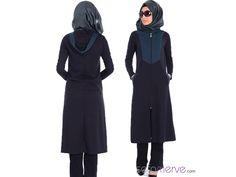 Tesettür Kap 2316-05 Siyah Zümrüt Yeşil #tesetturgiyim #tesettur #sefamerve #hijab #tesettür