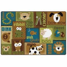 Carpets for Kids Animal Sounds Carpet in Nature's Colors