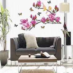 miljø lilla magnolia blomst formet vegg klistremerke - NOK kr. 131