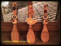 Cucchiai di legno decorati