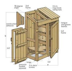 Build this simple garden tools shed in a single day with our easy step-by-step instructions. | Illustration: Gregory Nemec | thisoldhouse.com