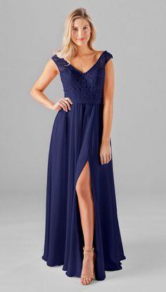 Kennedy Blue Morgan Embroidered Lace & Chiffon Bridesmaid Dress