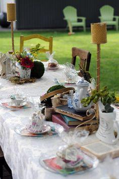 Vintage Mad Hatter Tea Party   Design Studio²