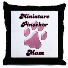 Min Pin Mom3 Throw Pillow