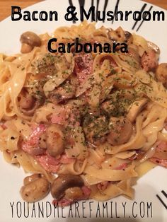 Bacon & Mushroom Carbonara ~ Slimming World - Slimming World Recipes