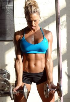 She's above average....Great Blog for tips and inspiring photos on abs and ab exercises.