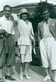 Oh THE MEN!!! and lovely Mistinguett. 1929 men's fashion sporting style