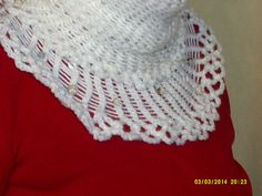 Handmade white cowl with decorative beading. by cleancritters, $25.00