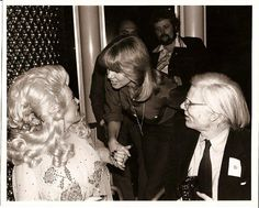 Dolly Parton with Olivia Newton & Andy Warhol